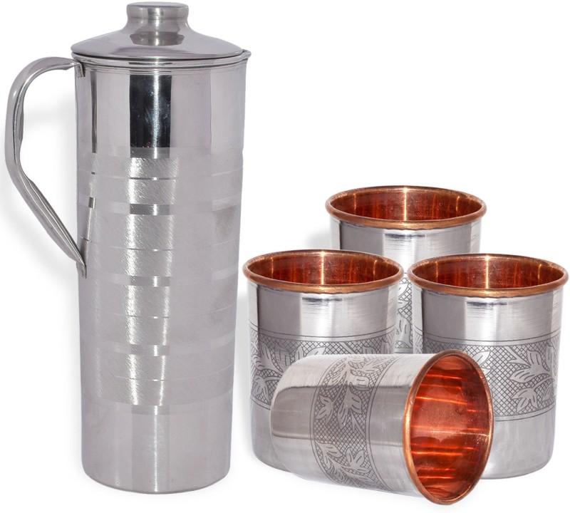 Dakshcraft AB1262 Jug Glass Set(Copper)