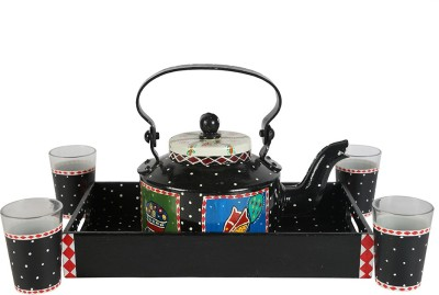 Rang Rage KDKS0001 Jug Glass Tray Set(Aluminium, MDF, Glass)