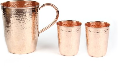 Kalpaveda Copper Drinkware Set Jug Glass Set