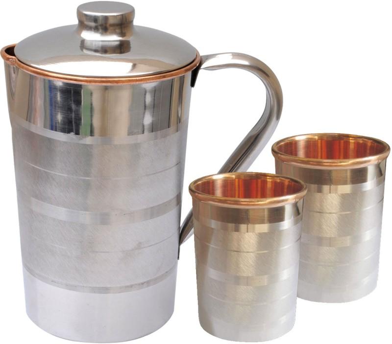 Dakshcraft DSCJ005-DSCGL001-2 Jug Glass Set(Copper)