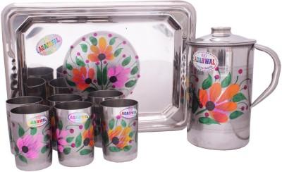 Agarwal MunimjiLemonset012 Jug Glass Tray Set
