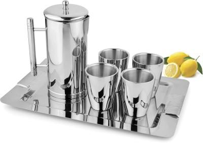 Jattin Enterprises Je1005 Jug Glass Tray Set