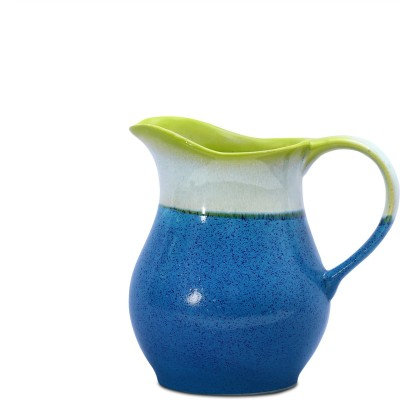 Caffeine Water Ceramic in Glossy Blue Base and Multicolor Studio (1pc) Water Pitcher