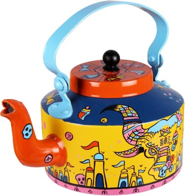 Pulpypapaya Bhimbetka War Map Hand Painted Kettle Kettle Jug