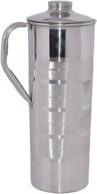 Dakshcraft Pure Handmade Stainless Steel With Lid Outside Water Pitcher