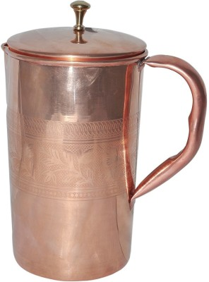 Craftsman Copper Jug Pitcher with Lid for Health Benefits Ayurveda Healing Water Jug