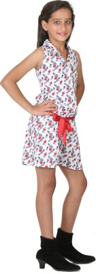 Peppermint Printed Girl's Jumpsuit
