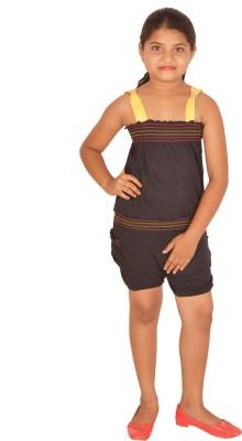 Gkidz Solid Girl's Jumpsuit