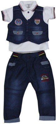 Romano Solid Baby Boy's Jumpsuit