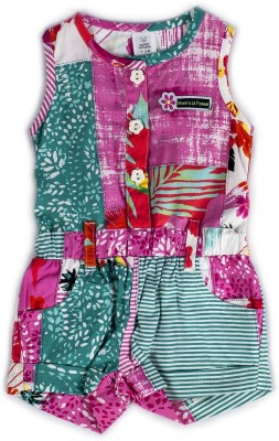 Toffyhouse Printed Baby Girl's Jumpsuit