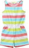 Beebay Striped Girl's Jumpsuit