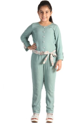 Paul & doll Solid Girls Jumpsuit