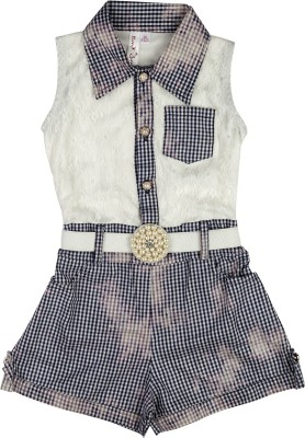 Hunny Bunny Checkered Girl's Jumpsuit