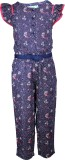 ShopperTree Floral Print Girls Jumpsuit