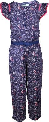 ShopperTree Floral Print Girl's Jumpsuit
