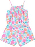 Mom and Kid Printed Girls Jumpsuit