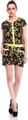 TAB91 Floral Print Women's Jumpsuit