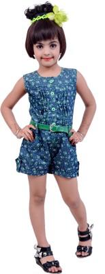 DesiWeaver Self Design Baby Girl's Jumpsuit