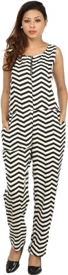 G & M Collections Striped Women's Jumpsuit