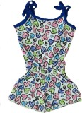 Tomato Graphic Print Girls Jumpsuit