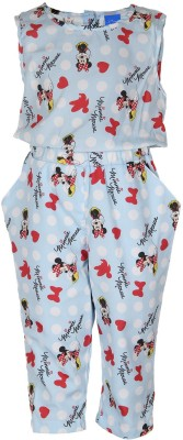 Tickles By Inmark Printed Girl's Jumpsuit