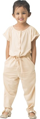 Bluebuck Solid Girl's Jumpsuit