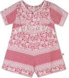 Budding Bees Printed Girls Jumpsuit