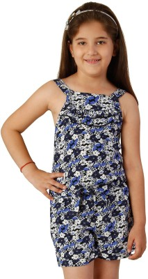 Oxolloxo Printed Girl's Jumpsuit