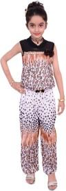 Gungun Pari Printed Girls Jumpsuit