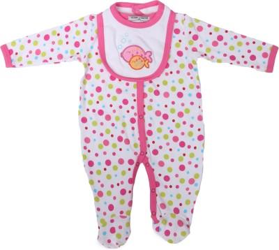 Mojeska Polka Print Baby Boy's Jumpsuit