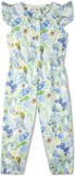 Budding Bees Floral Print Girl's Jumpsui...