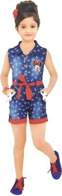 DesiWeaver Printed Girl's Jumpsuit