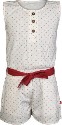 Nino Bambino Printed Girl's Jumpsuit