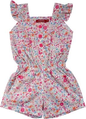 Campana Floral Print Girl's Jumpsuit