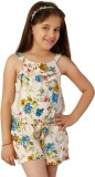 Oxolloxo Printed Girls Jumpsuit