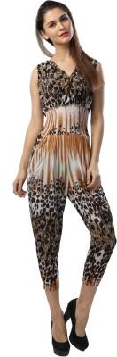 Glam & Luxe Animal Print Women's Jumpsuit
