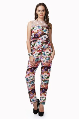 Glam & Luxe Floral Print Women's Jumpsuit
