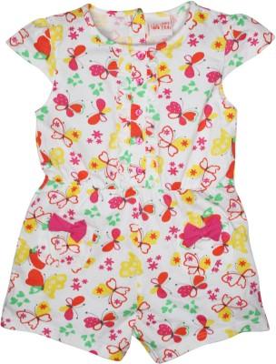 FS Mini Klub Printed Baby Girl's Jumpsuit