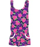 Tomato Printed Girls Jumpsuit