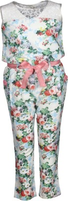 Cutecumber Floral Print Girl's Jumpsuit