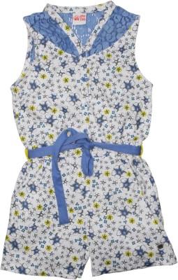 FS Mini Klub Printed Girl's Jumpsuit