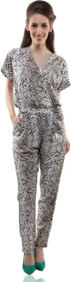 Miss Chase Animal Print Women's Jumpsuit