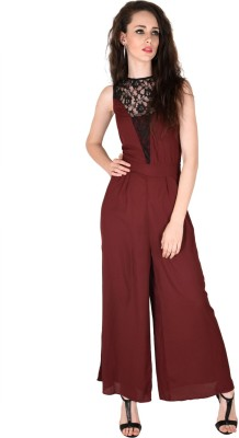 Sassafras Solid Women's Jumpsuit at flipkart