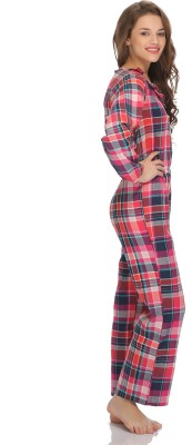 Clovia Checkered Women's Jumpsuit at flipkart