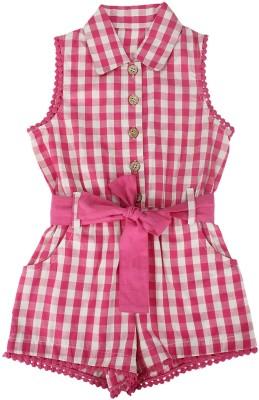 Nino Bambino Checkered Girl's Jumpsuit