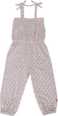 Nino Bambino Polka Print Girl's Jumpsuit
