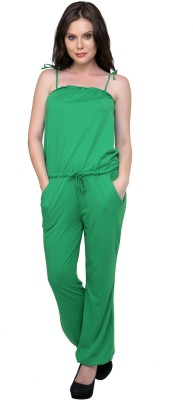 Cottinfab Solid Women's Jumpsuit at flipkart