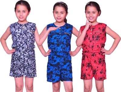 Pari & Prince Printed Girl's Jumpsuit