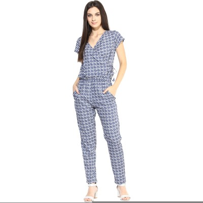 Color Cocktail Printed Women's Jumpsuit