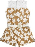 Hunny Bunny Floral Print Girls Jumpsuit